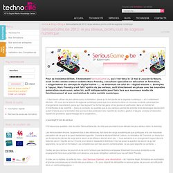 SeriousGame.be 2012: le jeu sérieux, promu outil de sagesse numérique