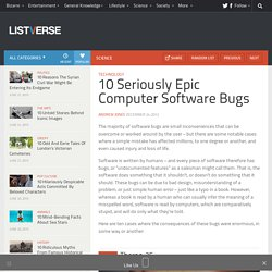 10 Seriously Epic Computer Software Bugs