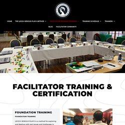 Facilitator Training Program - SeriousplayTraining