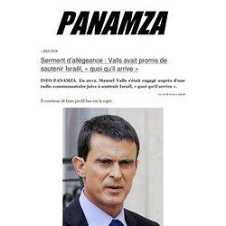 » Serment d'allégeance : Valls avait promis de soutenir Israël, «quoi qu'il arrive»