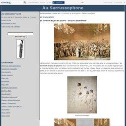 Le serment du jeu de paume – Jacques Louis David - Au Sarrussophone