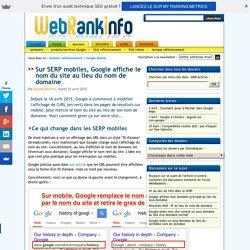 SERP : nom du site au lieu du nom de domaine