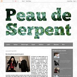 Peau De Serpent: Non-binarité et accord en genre
