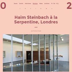 Haim Steinbach à la Serpentine, Londres