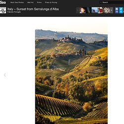 Photo &Italy – Sunset from Serralunga d'Alba& by Fabrizio Fenoglio