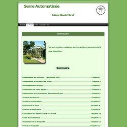 Serre Automatiser > Le Projet