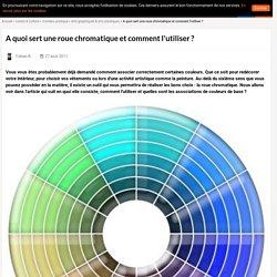 A quoi sert une roue chromatique et comment l'utiliser ?
