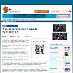 A quoi servent les blogs de recherche ?