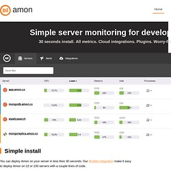 Amon - Server monitoring, simplified logging and error tracking for web apps