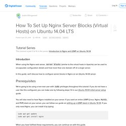 How To Set Up Nginx Server Blocks (Virtual Hosts) on Ubuntu 14.04 LTS