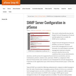 SNMP Server Configuration in pfSense - pfSense Setup HQ