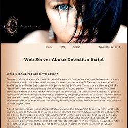 Web Server Abuse Detection Script