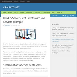 HTML5 Server-Sent Events and Java Servlet example