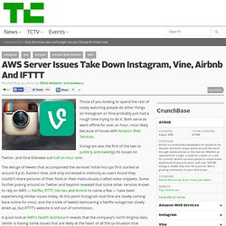 AWS Server Issues Take Down Instagram, Vine, Airbnb And IFTTT