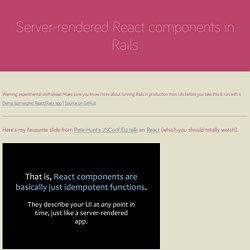 Server-rendered React components in Rails