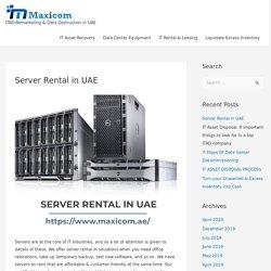 Server Rental in UAE