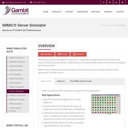 MIMIC Server Simulator