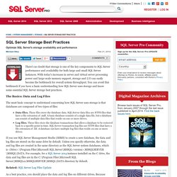 Storage content from SQL Server Pro
