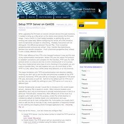 Setup TFTP Server on CentOS