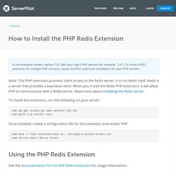 How to Install the PHP Redis Extension