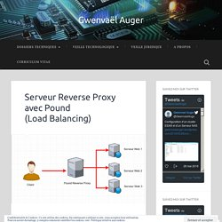 Serveur Reverse Proxy avec Pound (Load Balancing) – Gwenvaël Auger