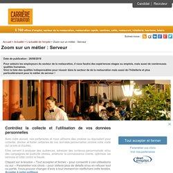 Zoom sur un métier : Serveur - Carrière Restauration
