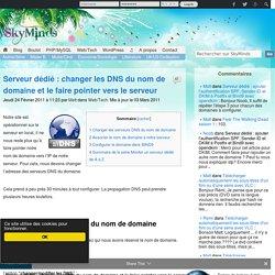 Serveur dédié : changer les DNS du nom de domaine et le faire pointer vers le serveur