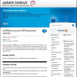 VsFTPd un serveur FTP hautement sécurisé