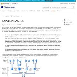 Serveur RADIUS