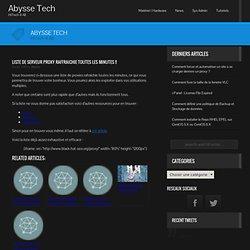 Liste de serveur Proxy raffraichie toutes les minutes !! | Abysse-Tech