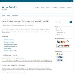 Monter un serveur Subversion avec Apache2 + WebSVN - Linux