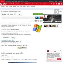 Serveur X sous Windows