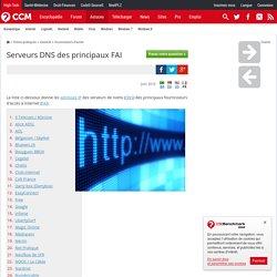 Serveurs DNS des principaux FAI