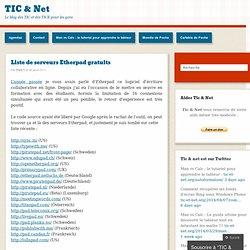 Liste de serveurs Etherpad gratuits