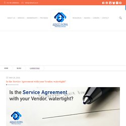 Is the Service Agreement with your Vendor, watertight? - Altacit Global