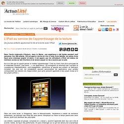 L'iPad au service de l'apprentissage de la lecture
