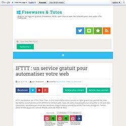 un service gratuit pour automatiser votre web