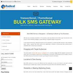 Bulk SMS Service in Bangalore – Radical Tech Support