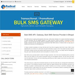 Bulk SMS Service Provider in Bhopal - Radical Tech Support