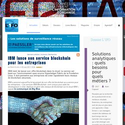 IBMlance son service blockchain pour les entreprises