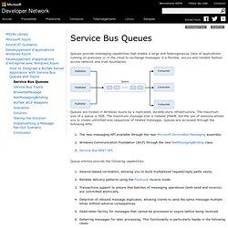 Service Bus Queues
