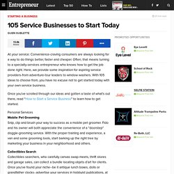 Page 2 105 Service Businesses to Start Today