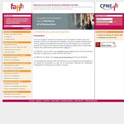 Service certification du Fafih
