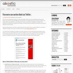 Free ouvre son service client sur Twitter