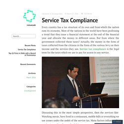 Service Tax Compliance