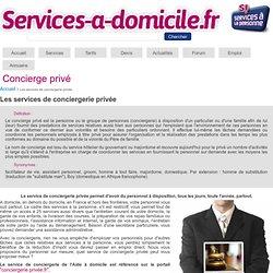Service de conciergerie privée