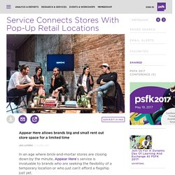 Service Connects Stores With Pop-Up Retail Locations