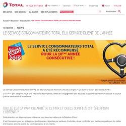 Le Service Consommateurs TOTAL élu service client de l'année - Total.fr