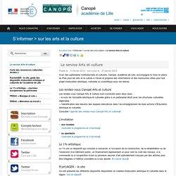 Le service Arts et culture - Canopé, académie de Lille