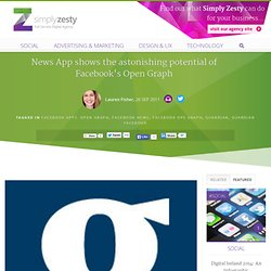 News App shows the astonishing potential of Facebook's Open Graph – Simply Zesty - Simply Zesty
